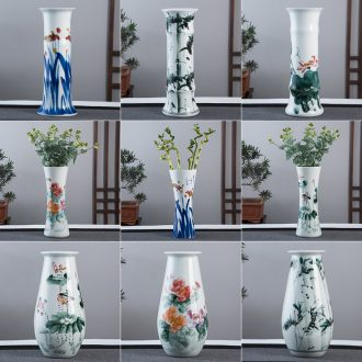 Jingdezhen hand-painted ceramic vase now rising furnishing articles sitting room ground hydroponic lucky bamboo flower arrangement craft ornaments