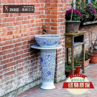 Pillar lavabo ceramics the pool that wash a face basin hand-painted porcelain art individuality outdoor balcony column toilet basin