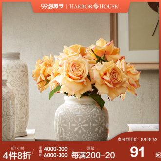 Harbor House insert American ceramic vase sitting room place dried flowers, bibury creative home decorations