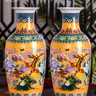 Jingdezhen ceramics of large vases, flower arrangement in modern Chinese style household living room TV cabinet porch is decorated furnishing articles