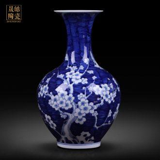 Ceramic vases, blue and white porcelain vase MeiKaiWuFu decorations furnishing articles furnishing articles jingdezhen ceramics archaize water
