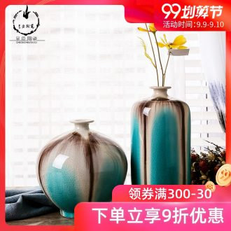 Jingdezhen ceramic plug stem vases furnishing articles blue contracted Europe type TV ark creative home sitting room adornment ornament