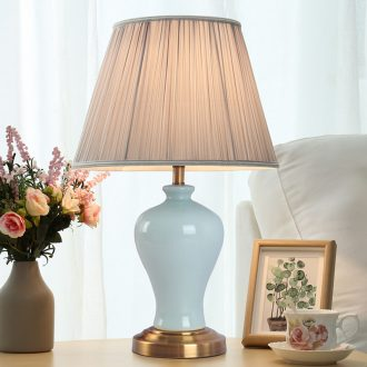 American ceramic table lamp bedroom nightstand marriage room sweet contracted sitting room study individuality creative control