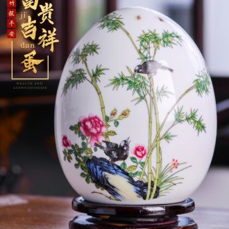 Jingdezhen ceramics vase rich ancient frame furnishing articles f egg Chinese style decoration home porch bedroom adornment ornament