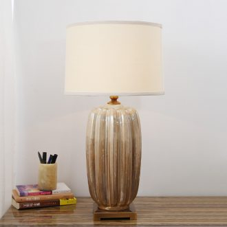Ceramic lamp creative contracted light remote wedding luxury hotel decorate the living room a study hall desk lamp of bedroom the head of a bed