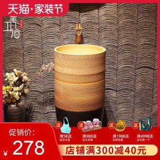 Lavabo ceramic column toilet bowl washing pool balcony sink lavatory toilet pillar landing