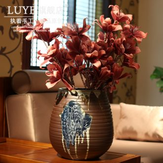 Jingdezhen pottery porcelain vase floral organ household of Chinese style be born creative ceramic pottery vases, flower arranging furnishing articles sitting room