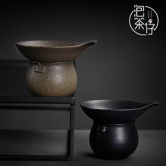 Tea seed kung fu tea accessories creative) tea tea strainer restoring ancient ways the teapot tea strainer insulation ceramic filter