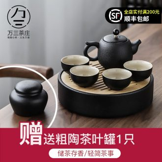 Three thousand office tea cups kung fu tea tea set suit Japanese household contracted small tea tray ceramic teapot