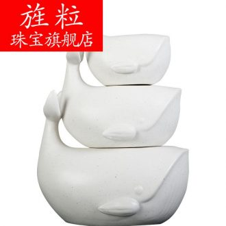 At northern ceramic whale furnishing articles household animal creative wedding gift for the sitting room the bedroom adornment ornament