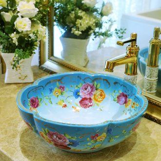 Package mail petals jingdezhen art basin modelling lavatory washbasins stage basin & ndash; Blossoming flowers