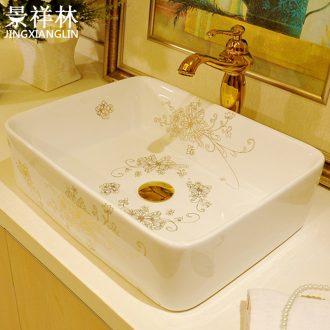 The stage basin ceramic art rectangular basin European toilet lavabo, lovely home sinks hand basin