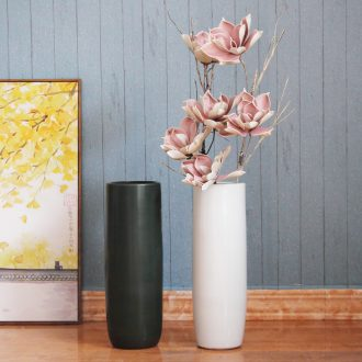 Nordic Jane the contemporary and contracted household hotel decoration white ceramic floor vases, decorative furnishing articles