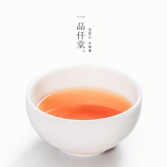 Yipin # $kung fu master cup single cup ceramic individual cup white porcelain cups tea tea set, the bowl sample tea cup