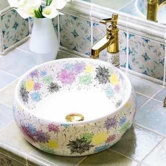 Circular Chinese style household hotels on the sink of jingdezhen ceramic art small toilet wash basin