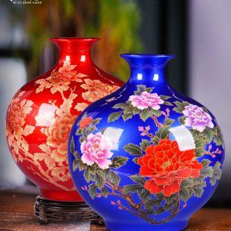 Jingdezhen ceramics flower arrangement in modern Chinese style household sitting room porch TV ark adornment bedroom vase furnishing articles