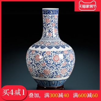 Classical hand-painted tree blue-and-white youligong vase household furnishing articles adornment antique collection jingdezhen ceramics