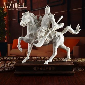 Oriental soil dehua white porcelain horse furnishing articles ceramic sculpture art creative office/li for performers