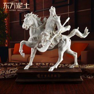 Oriental soil dehua white porcelain horse furnishing articles ceramic sculpture art creative office/li for performers