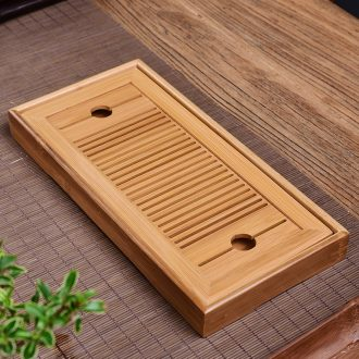Ceramic tea tray Japanese household bamboo tray kung fu tea set water contracted solid wood dry mini tea table