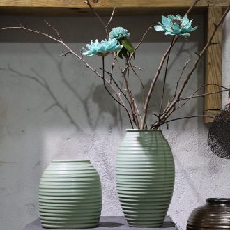 Art show of jingdezhen ceramic vase nostalgic firewood flower implement industrial wind restoring ancient ways new Chinese style coarse pottery decorative furnishing articles