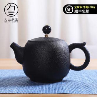 Kung fu tea set single pot of ceramic teapot tea village household three thousand creative teapot of filter tea tea green tea