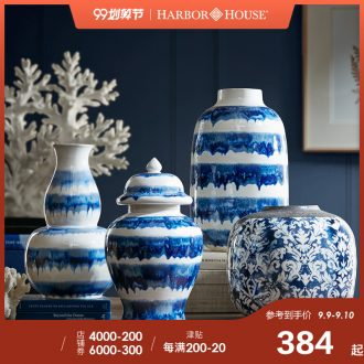 Harbor House flow glazed pottery porcelain vase American sitting room bedroom adornment flower arranging device furnishing articles Exotica