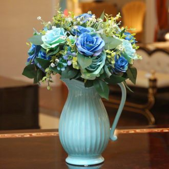 European fashion creative vase home sitting room adornment is placed table simulation flower arranging ceramic handicraft decoration