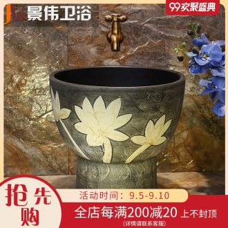 Mop pool ceramic mop pool floor balcony household small toilet washing basin mop mop pool restoring ancient ways