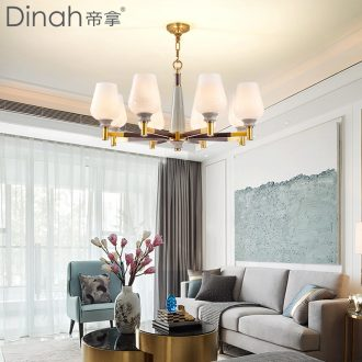 Emperor droplight sitting room is contracted with American droplight full copper lamps ceramic compound floor restaurant droplight with bedroom atmosphere
