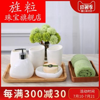 Ce bathroom sanitary ware suit wash gargle suite Nordic contracted furnishing articles American toilet ceramics bathing necessity five pieces