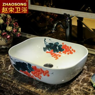 Zhao song European stage basin household oval on the sink American basin European ceramic art basin