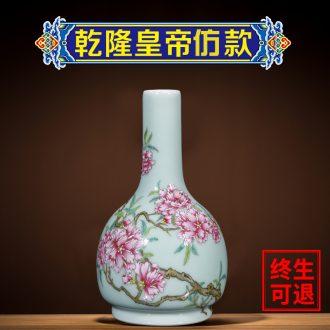 Better sealed kiln hand-painted floret bottle shadow blue glaze sitting room adornment porcelain jingdezhen ceramics furnishing articles rich ancient frame by hand
