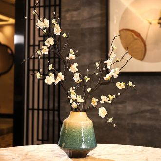 New Chinese style is contemporary jingdezhen ceramic vase furnishing articles zen sitting room porch dry flowers floral wintersweet ornaments