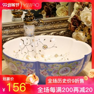 Million birds on the sink bathroom ceramic art of the basin that wash a face basin washing a face petals petals basin