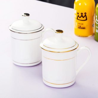 Manual fuels the bone porcelain of jingdezhen jingdezhen ceramic mug cup with cover cup tea custom office cup meeting