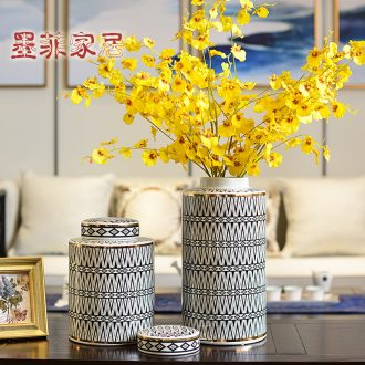 Murphy's new classic ceramic big vase Chinese sitting room porch receive tank decoration dry flower arranging flowers, floral decorations