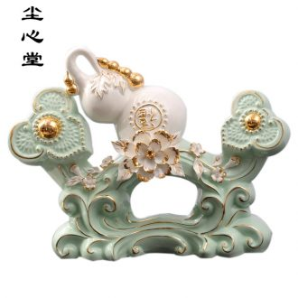 Dust heart creative gourd furnishing articles sitting room porch TV cabinet ceramic town house feng shui plutus housewarming home office