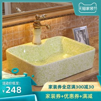 Jingdezhen ceramic sanitary ware basin sink basin sinks imitation marble surface stage basin tap hole