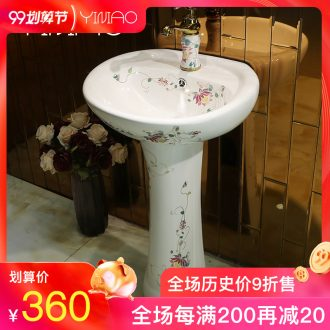 Million birds ceramic basin to post the basin that wash a face basin pillar pillar lavabo pool one pillar lavabo