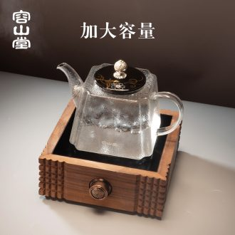 RongShan glass kettle ceramic coppering.as silver pot button # heat increase electrical TaoLu tea stove capacity boiled tea tea set