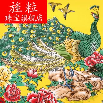 CV of jingdezhen ceramics peacock figure hanging dish decorative plate large modern Chinese sitting room adornment is placed