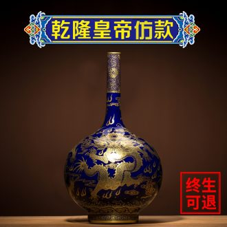Better sealed kiln jingdezhen ceramic big vase furnishing articles sitting room hand-painted Chinese antique blue and white porcelain home decoration