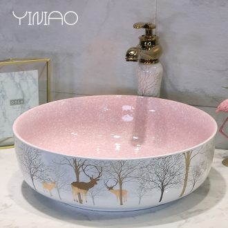 The stage basin sink toilet lavatory ceramic household washing basin oval sink northern European art