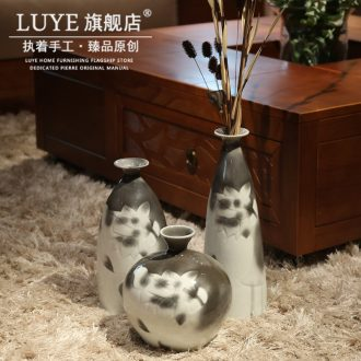 Jingdezhen ceramic Chinese dried flower vase vase suit small mouth sitting room place decorative bottle household act the role ofing is tasted