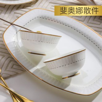 Nordic light much job jingdezhen personality European dishes plate bowl household collocation of creative freedom