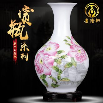 Archaize creative famille rose porcelain vase of jingdezhen ceramics rich ancient frame sitting room adornment of Chinese style household furnishing articles