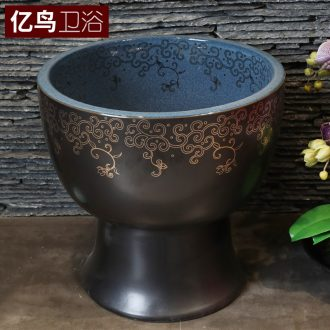 Million birds ceramic basin of Chinese style to wash the mop pool home floor mop mop pool balcony toilet tank pool