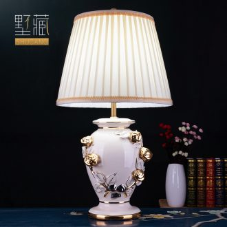 Large American light luxury european-style lamp decoration ceramics art design pattern all copper restoring ancient ways the sitting room porch town house