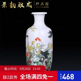 Jingdezhen ceramic hand-painted vases, flower arranging decorations furnishing articles new Chinese style living room porch craft porcelain decoration